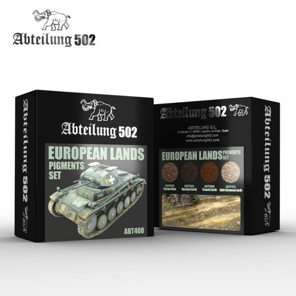 AK-Interactive: Abteilung 502 European Lands Pigments Set