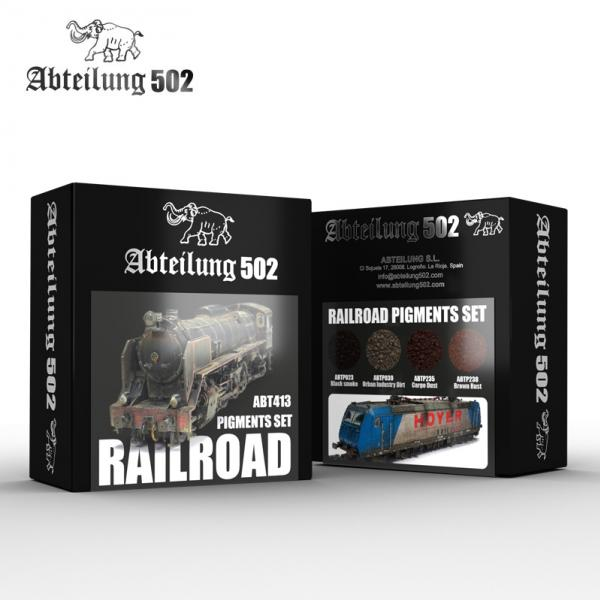 AK-Interactive: Abteilung 502 Railroad Pigments Set