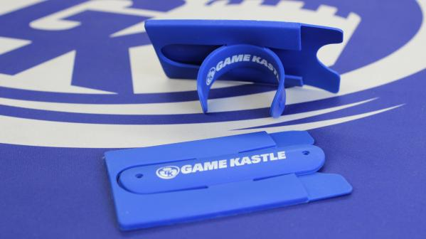 Game Kastle Blue Cell Phone Stand and Card Holder