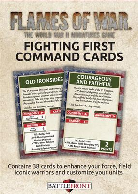 Flames Of War (WWII): Command Cards - Fighting First (29)