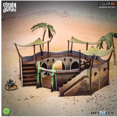 Infinity Terrain: Bourak terrain - Sahn of the Sultanate (Color ED)