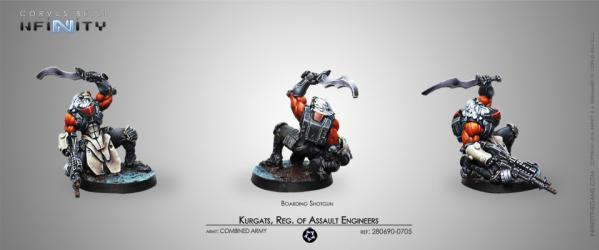 Infinity (#705) Combined Army: Kurgat, Reg. of Assault Engineers (Boarding Shotgun) (1)