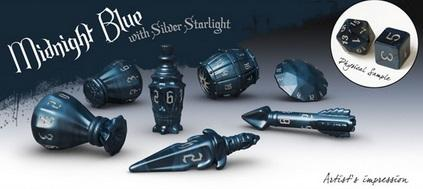 PolyHero Dice: Rogue Set - Midnight Blue (7)