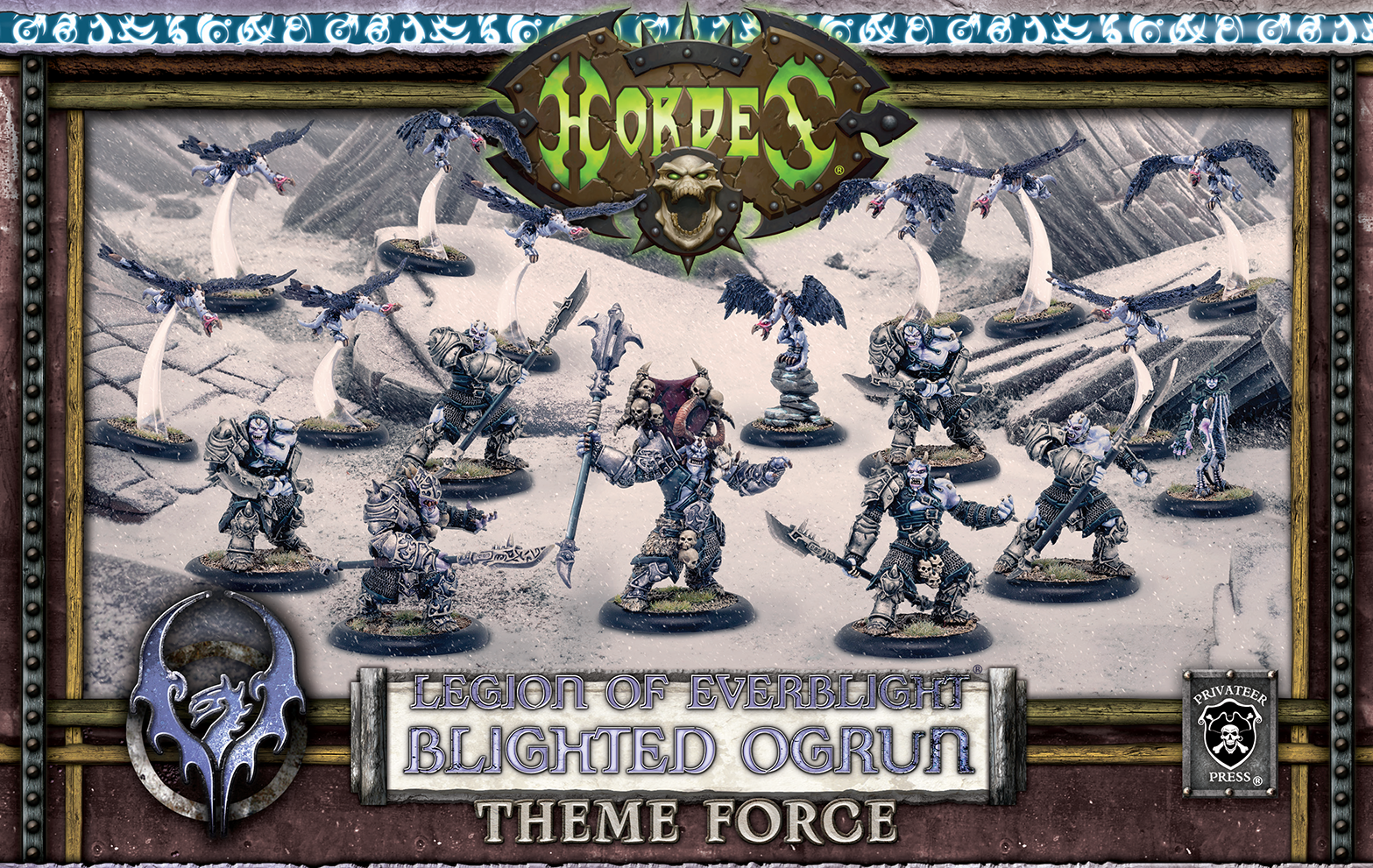 Hordes: Blighted Ogrun Legion Army Box – (mixed resin/metal)