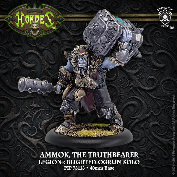 Hordes: Ammok the Truthbearer – Legion Blighted Ogrun Character Solo (resin/metal)