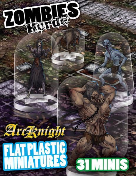 Flat Plastic Miniatures: Zombies Horde