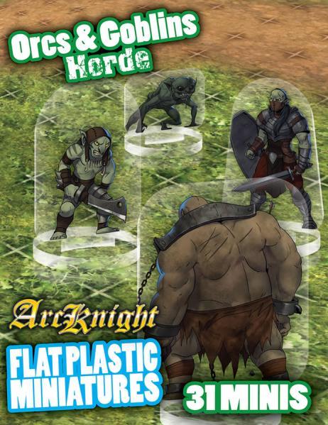Flat Plastic Miniatures: Orcs & Goblins Horde