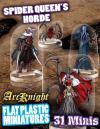 Flat Plastic Miniatures: Spider Queen's Horde