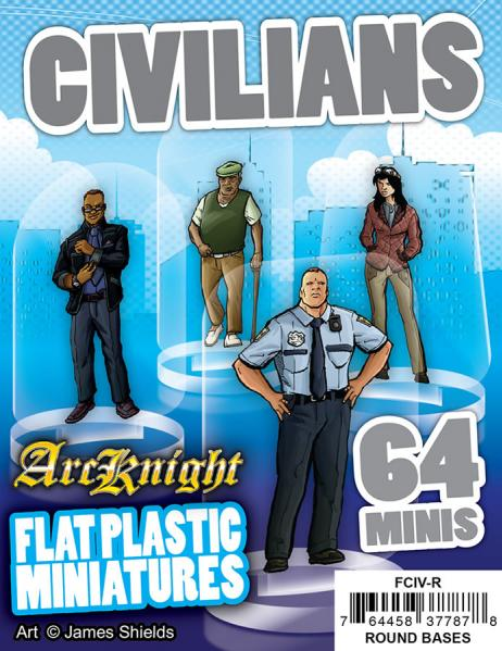 Flat Plastic Miniatures: Civilians