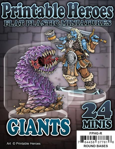 Flat Plastic Miniatures: Printable Heroes - Giants