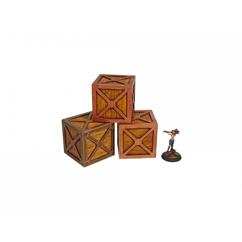 28mm Terrain: XIX Century Crates (3)