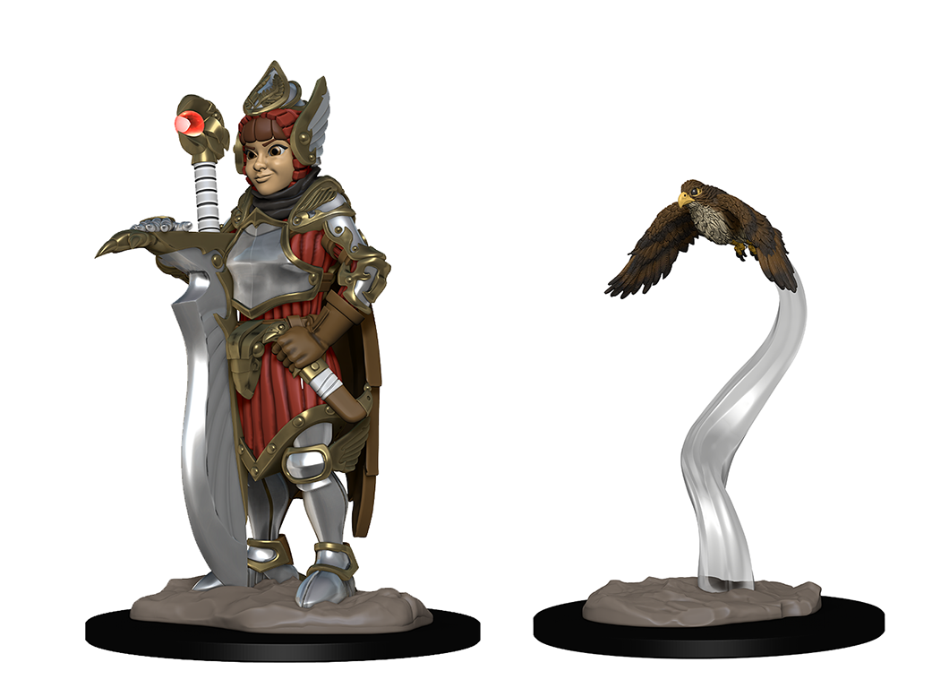 WizKids Wardlings: Girl Fighter & Hunting Falcon