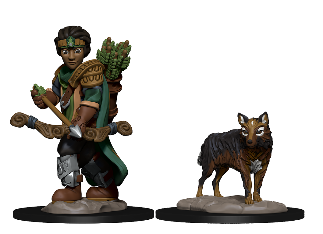 WizKids Wardlings: Boy Ranger & Wolf