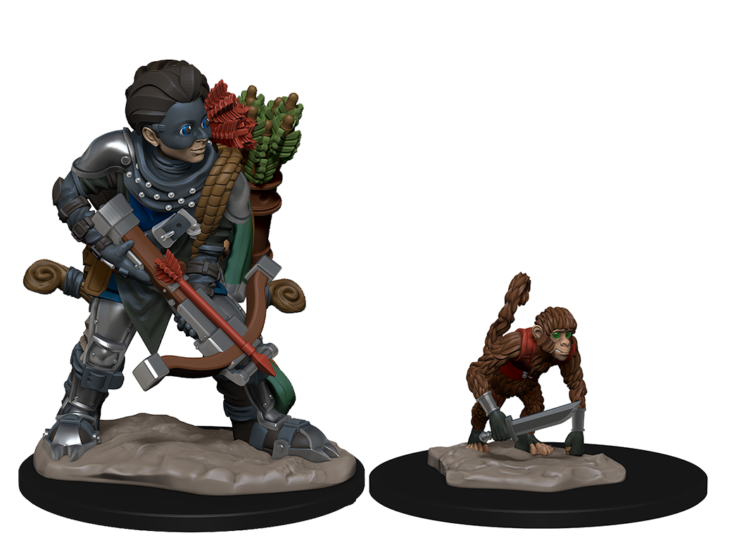 WizKids Wardlings: Boy Rogue & Monkey