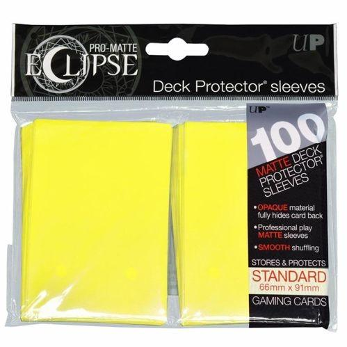 Ultra-Pro: Pro-Matte Eclipse Yellow Deck Protector (100ct)