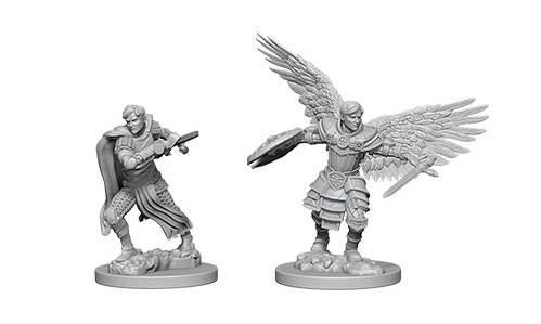 WizKids Nolzur's Marvelous Unpainted Miniatures: Male Aasimar Fighters (2)
