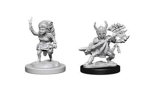 WizKids Nolzur's Marvelous Unpainted Miniatures: Female Halfling Fighters (2)