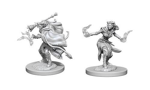 WizKids Nolzur's Marvelous Unpainted Miniatures: Female Tiefling Warlocks (2)