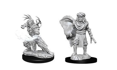 WizKids Nolzur's Marvelous Unpainted Miniatures: Male Human Druids (2)