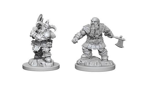 WizKids Nolzur's Marvelous Unpainted Miniatures: Male Dwarf Barbarians (2)