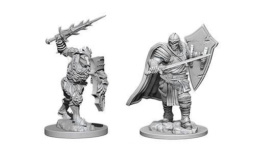 WizKids Nolzur's Marvelous Unpainted Miniatures: Death Knight & Helmed Horror (2)