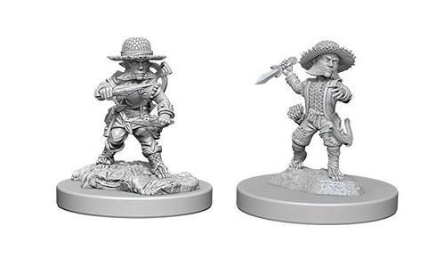 Pathfinder Deep Cuts Unpainted Miniatures: Male Halfling Rogues (2)
