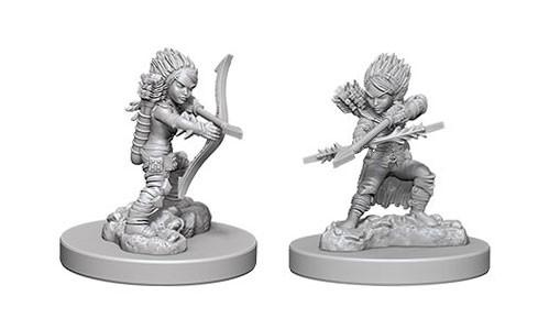 Pathfinder Deep Cuts Unpainted Miniatures: Female Gnome Rogues (2)