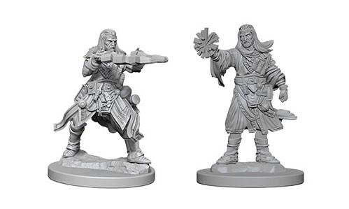 Pathfinder Deep Cuts Unpainted Miniatures: Male Human Wizards (2)