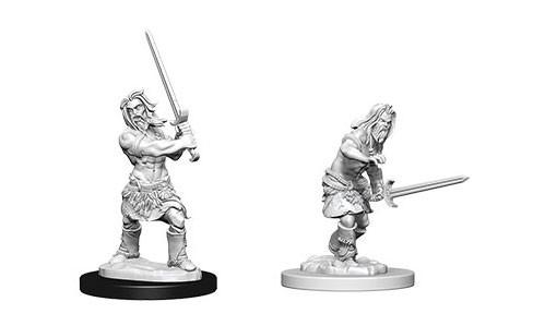 Pathfinder Deep Cuts Unpainted Miniatures: Male Human Barbarians (2)