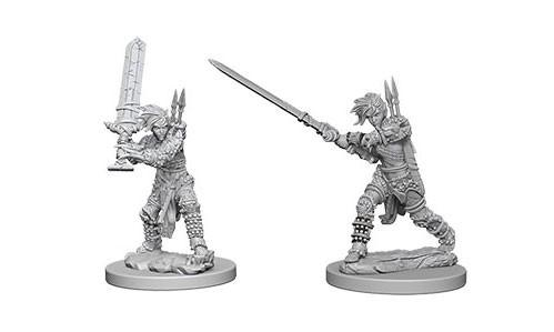 Pathfinder Deep Cuts Unpainted Miniatures: Female Human Barbarians (2)