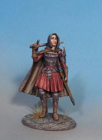 Visions In Fantasy: Female Warrior with Long Sword