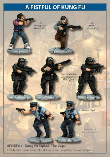 28mm Modern: (A Fistful of Kung Fu) Kung Fu Squad - The Cops