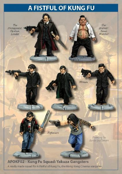 28mm Modern: (A Fistful of Kung Fu) Kung Fu Squad - Yakuza Gangsters