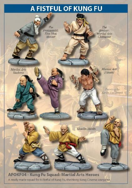 28mm Modern: (A Fistful of Kung Fu) Kung Fu Squad - Martial Arts Heroes