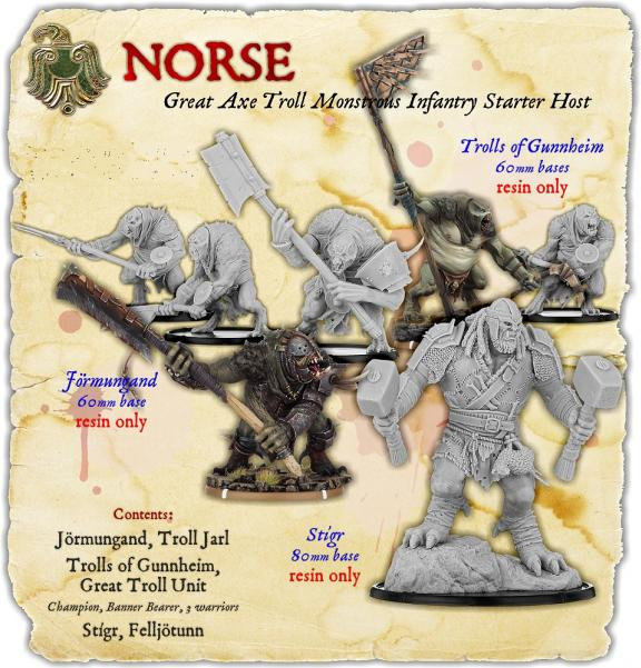 Darklands: Norse Great Axe Troll Monstrous Infantry Starter Host