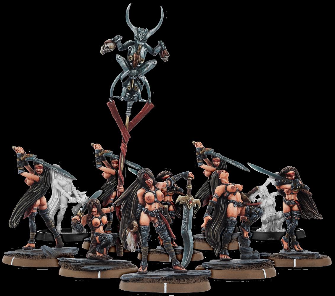 Darklands: Swords of Ys, Sword-Melusine Unit (10x Warriors w/cmd)