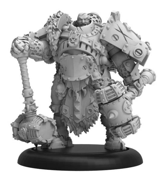 Warmachine: (Khador) Sergeant Dragos Dragadovich – Khador Command Attachment (resin/metal)