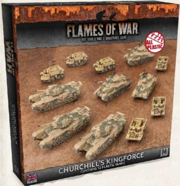 Flames Of War: (British) Churchill's Kingforce Army Deal (12x plastic tanks)