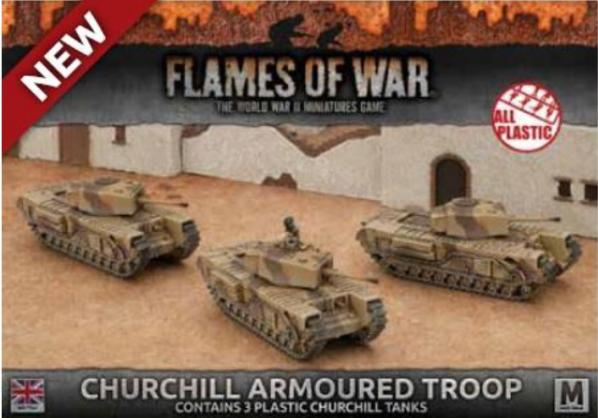 Flames Of War (WWII): (British) Churchill Armoured Troop (3x plastic)