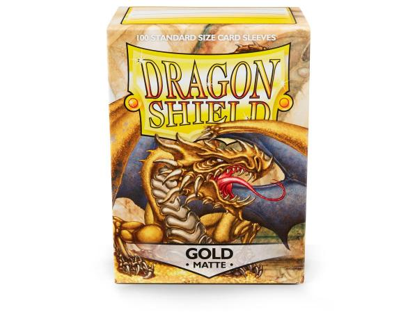 Dragon Shields:  Matte Gold Sleeves (100)