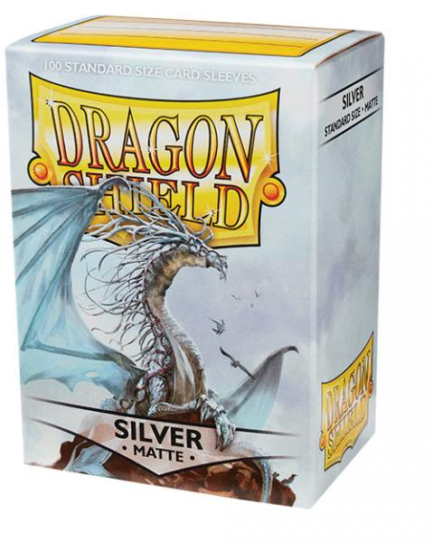 Dragon Shields:  Matte Silver Sleeves (100)