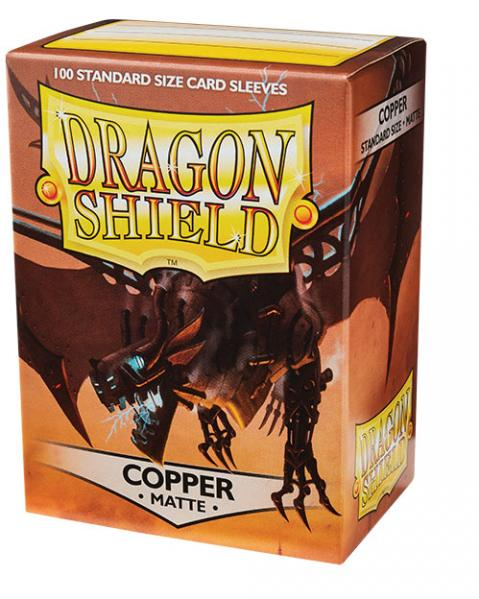 Dragon Shields:  Matte Copper Sleeves (100)
