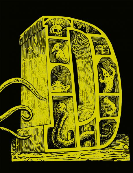 Dungeon Alphabet: Leatherbound (Hardback, Leather, System Neutral Sourcebook)