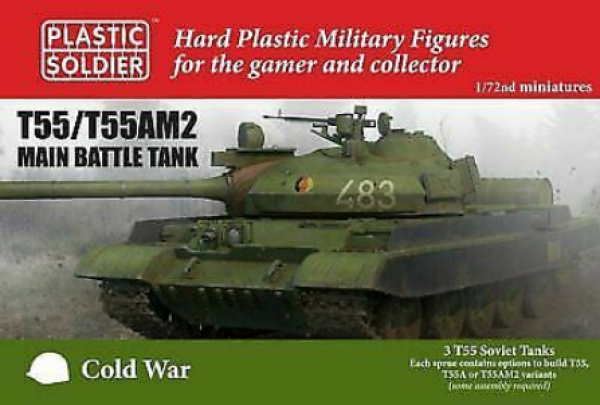 1/72nd Soviet T-55/T-55AM2 Main Battle Tank