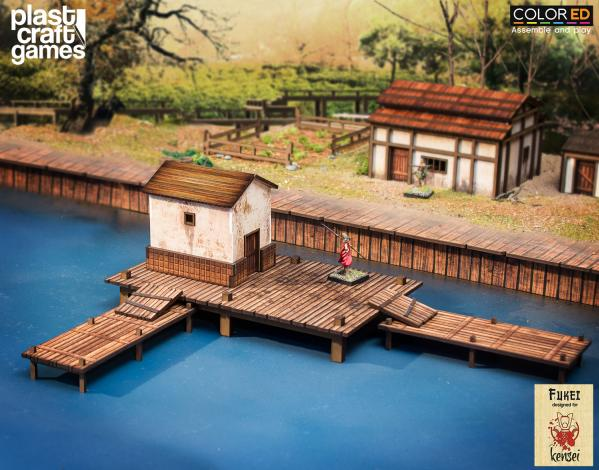 28mm Kensei Terrain: Fishing Pier (Color ED)