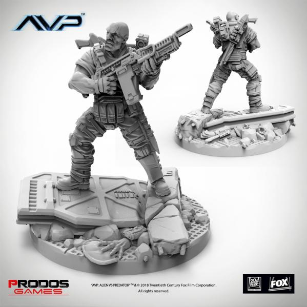 Alien vs Predator (AVP): USCM Officer Set