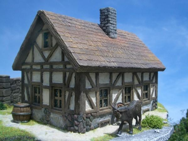 28mm Terrain: Half-Timbered House