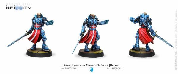 Infinity (#712) PanOceania: Knight Hospitaller Gabriele de Fersen (Hacker) (1)