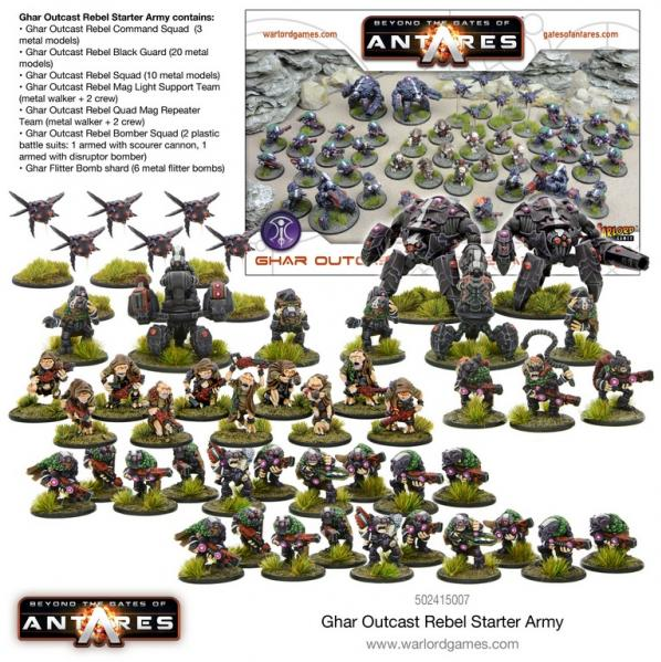 Beyond The Gates Of Antares: Ghar Outcast Rebel Army Box Set