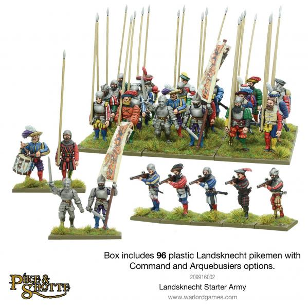28mm Pike & Shotte: Landsknecht Starter Army Box Set